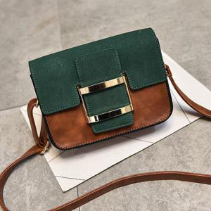 Metal Square Shape Covered Clousre Crossbody Bag -