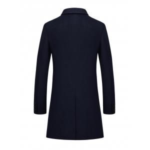 Slim Fit Single Breasted Lapel Wool Blend Coat -