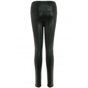 Stretchy PU Leather Leggings -