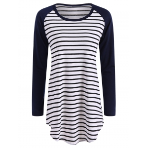 Striped Raglan Sleeve T Shirt
