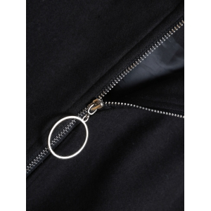 Thin  Pocket Jacket With Ear Hooded -