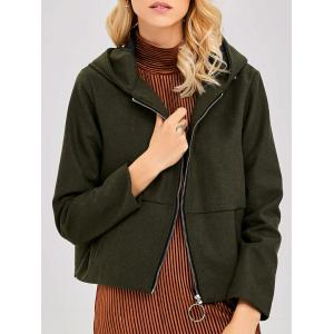 Thin  Pocket Jacket With Ear Hooded