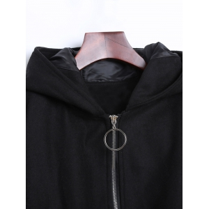Ears Hooded Bomber Jacket -