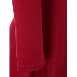 Mini V Neck Fit and Flare Dress - RED XL