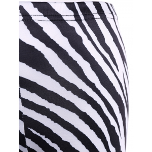Tight Zebra Stripe Christmas Leggings -