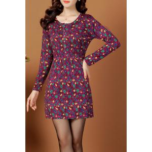 Jacquard Sweater Dress Vintage -