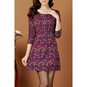 Jacquard Vintage A Line Jumper Dress
