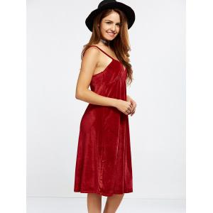 Velvet Cami Dress - RED L