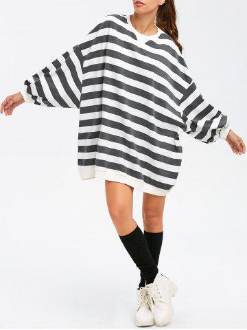 Best BF Style Striped Sweatshirt