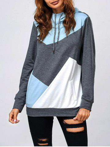 Sale Drawstring Vertical Pockets Hoodie