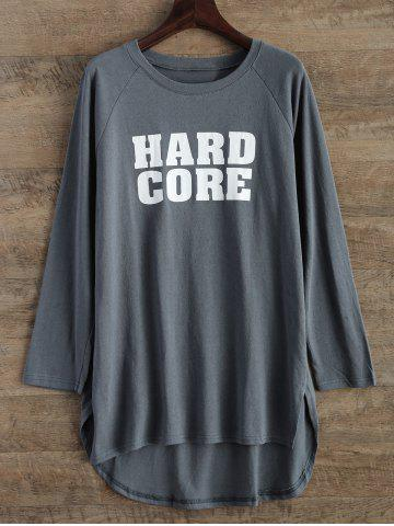 Cheap High Low Letter Loose T-Shirt