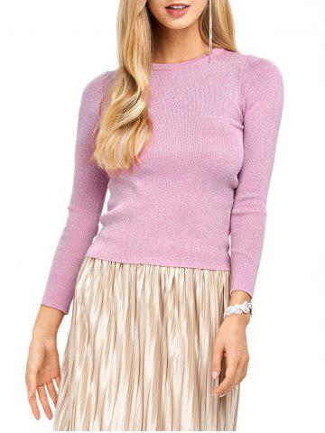 Affordable Bodycon Candy Color Pullover Sweater