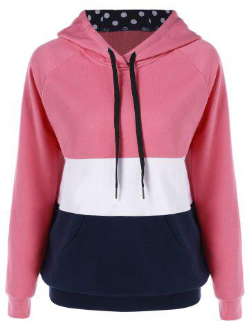 Fashion Kangaroo Pocket Drawstring Hoodie COLORMIX M