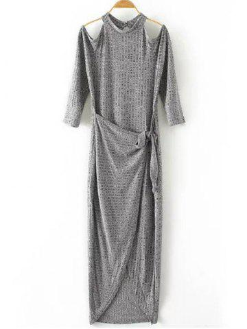 Shops Cut Out Knitted Open Shoulder Maxi Dress