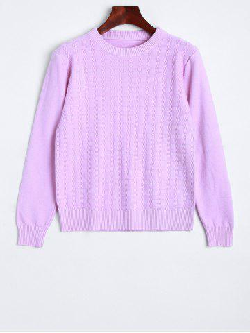 Vintage Fitted Short Sweater - Pinkish Purple - One Size