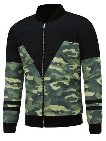 Outfit Camo Graphic Zip Up Padded Jacket