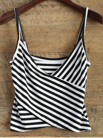 Store V Neck Striped Surplice Cami Top