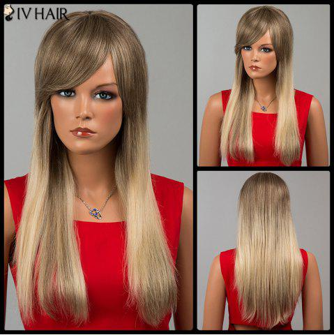 Shops Siv Hair Long Side Bang Straight Human Hair Wig