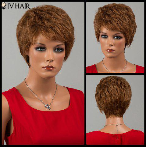 Unique Siv Hair Short Fluffy Side Bang Curly Human Hair Wig