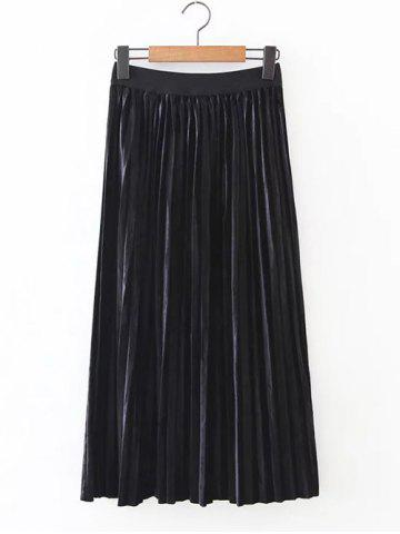 Outfits Retro Pleated Long Skirt