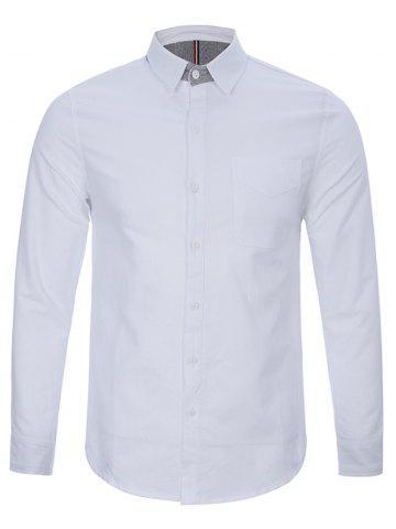 Fancy Back Pleat Single Pocket Button Up Shirt