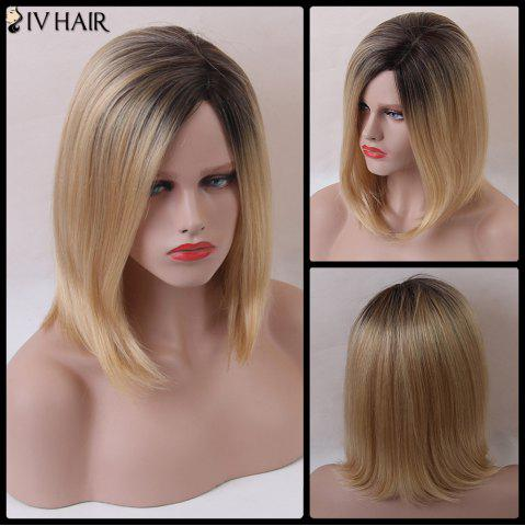 New Siv Short Bob Shaggy Side Parting Straight Human Hair Wig