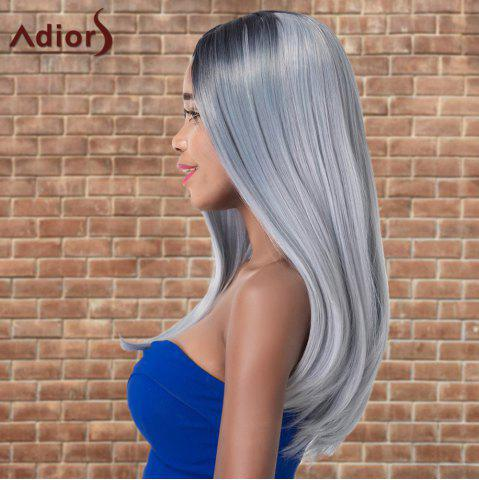 Fashion Adiors Long Side Parting Silky Straight Ombre Cosplay Synthetic Wig - MULTICO  Mobile