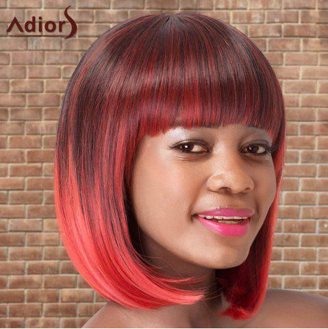 Fancy Adiors Short Colormix Neat Bang Straight Bob Cosplay Synthetic Wig - MULTICO  Mobile