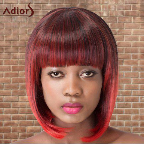 Outfit Adiors Short Colormix Neat Bang Straight Bob Cosplay Synthetic Wig - MULTICO  Mobile