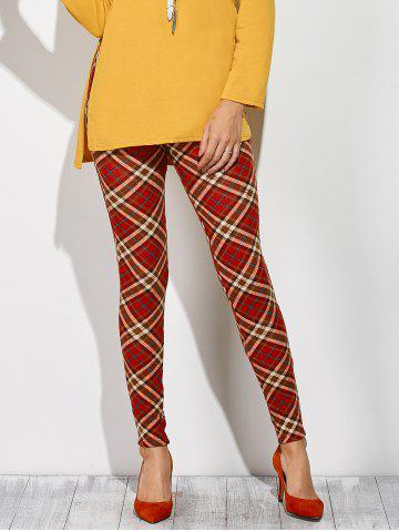 Shops Plaid Leggings CHECKED M