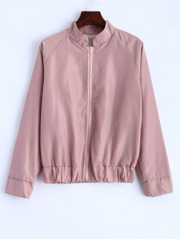 Outfit Letter Print Stand Collar Jacket