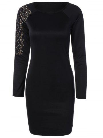 Shop Beaded Slim Long Sleeve Dress