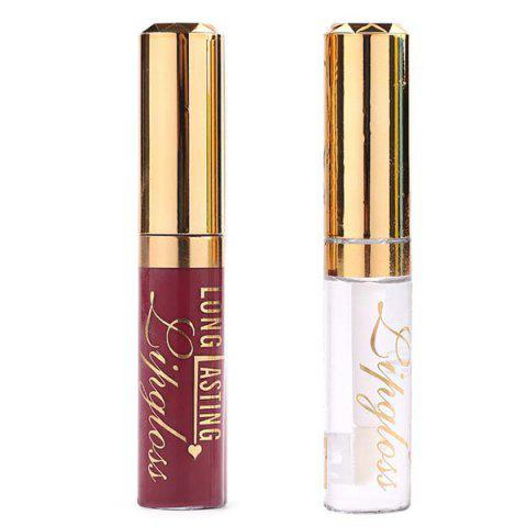 Shop 2 Pcs/Set Waterproof Lip Gloss and Lip Oil #22