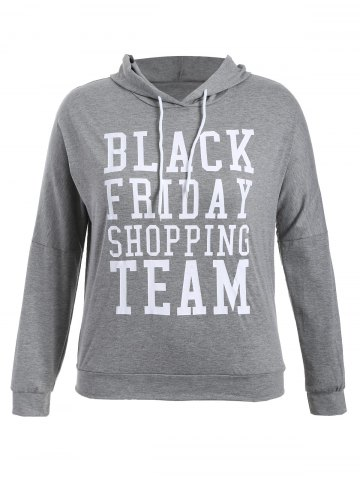 Chic Black Friday Print Plus Size Hoodie