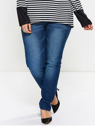 Trendy Fleece Panel Dark Wash Jeans