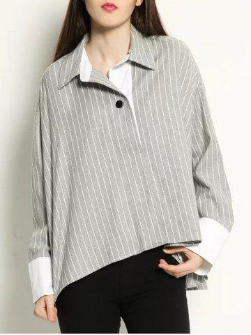 Affordable High Low Pullover BF Striped Shirt
