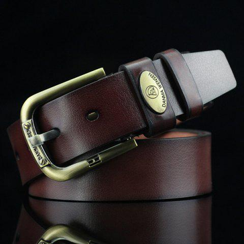 Buy Oval Alloy Label Pin Buckle PU Wide Belt