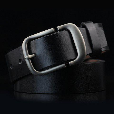 Cut Off Ardillon PU Ceinture large Noir