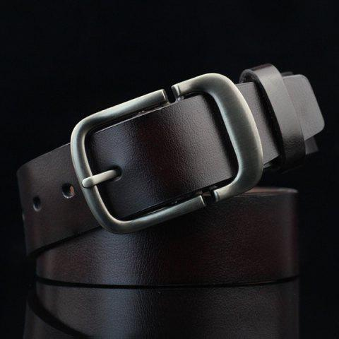 New Cut Off Pin Buckle PU Wide Belt