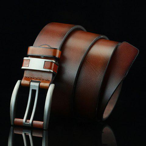 Sale Brief Hollow Out Roller Buckle PU Wide Belt - BROWN  Mobile