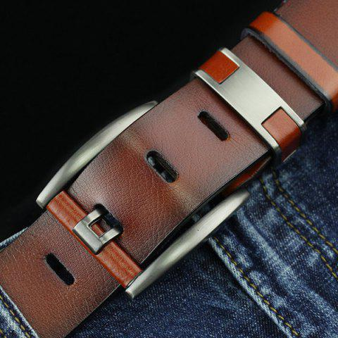 Discount Brief Hollow Out Roller Buckle PU Wide Belt - BROWN  Mobile