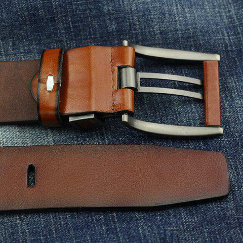 Affordable Brief Hollow Out Roller Buckle PU Wide Belt - BROWN  Mobile