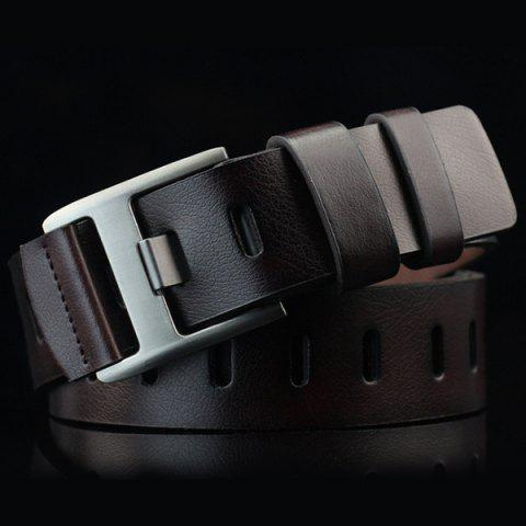 Affordable Brief Hollow Out Wide Hole PU Belt ESPRESSO