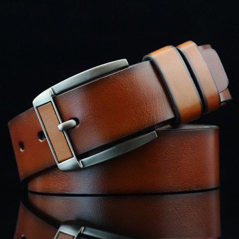 Trendy Brief Retro Pin Buckle PU Belt - BROWN  Mobile