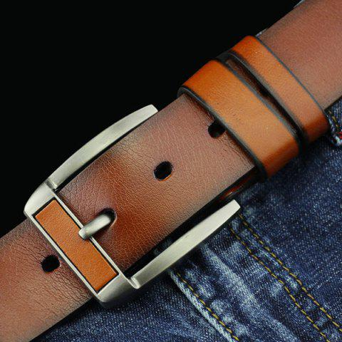 Discount Brief Retro Pin Buckle PU Belt - BROWN  Mobile