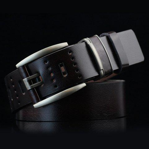 Outfit Brief Hollow Out Small Hole Roller Buckle PU Belt