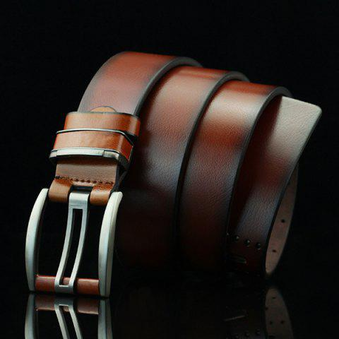Outfits Brief Hollow Out Small Hole Roller Buckle PU Belt - BROWN  Mobile