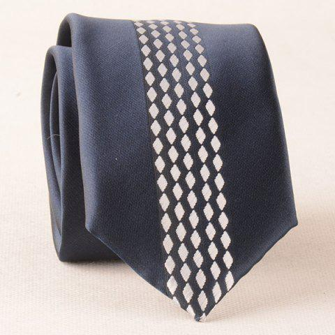 Formal Little Rhombus Pattern Polyester Neck Tie - WHITE