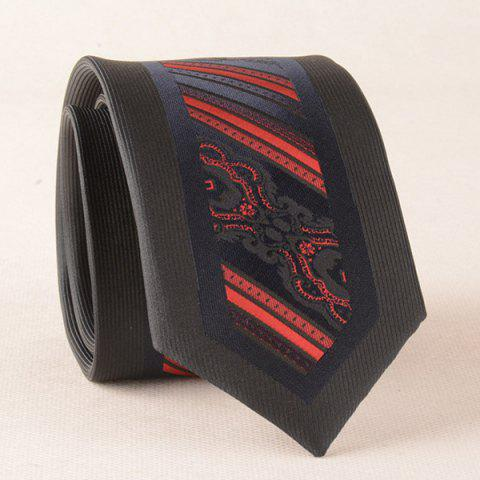 Shops Bridegroom Stripe Texture Jacquard Neck Tie RED