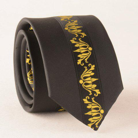 Online Fomal Bridegroom Jacquard Texture Neck Tie YELLOW/BLACK